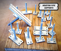 adjustable pipe support heads to pair with adjustable base pedestal