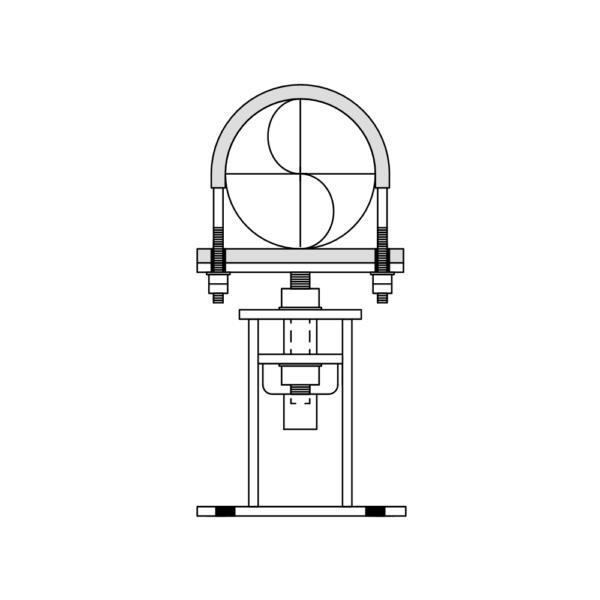 adjustable base pedestals and pipe cradles