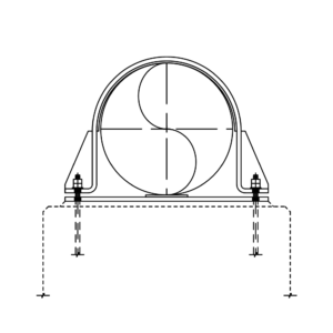 Flat FRP Liner Baseplate Hold Down Clamp Supports