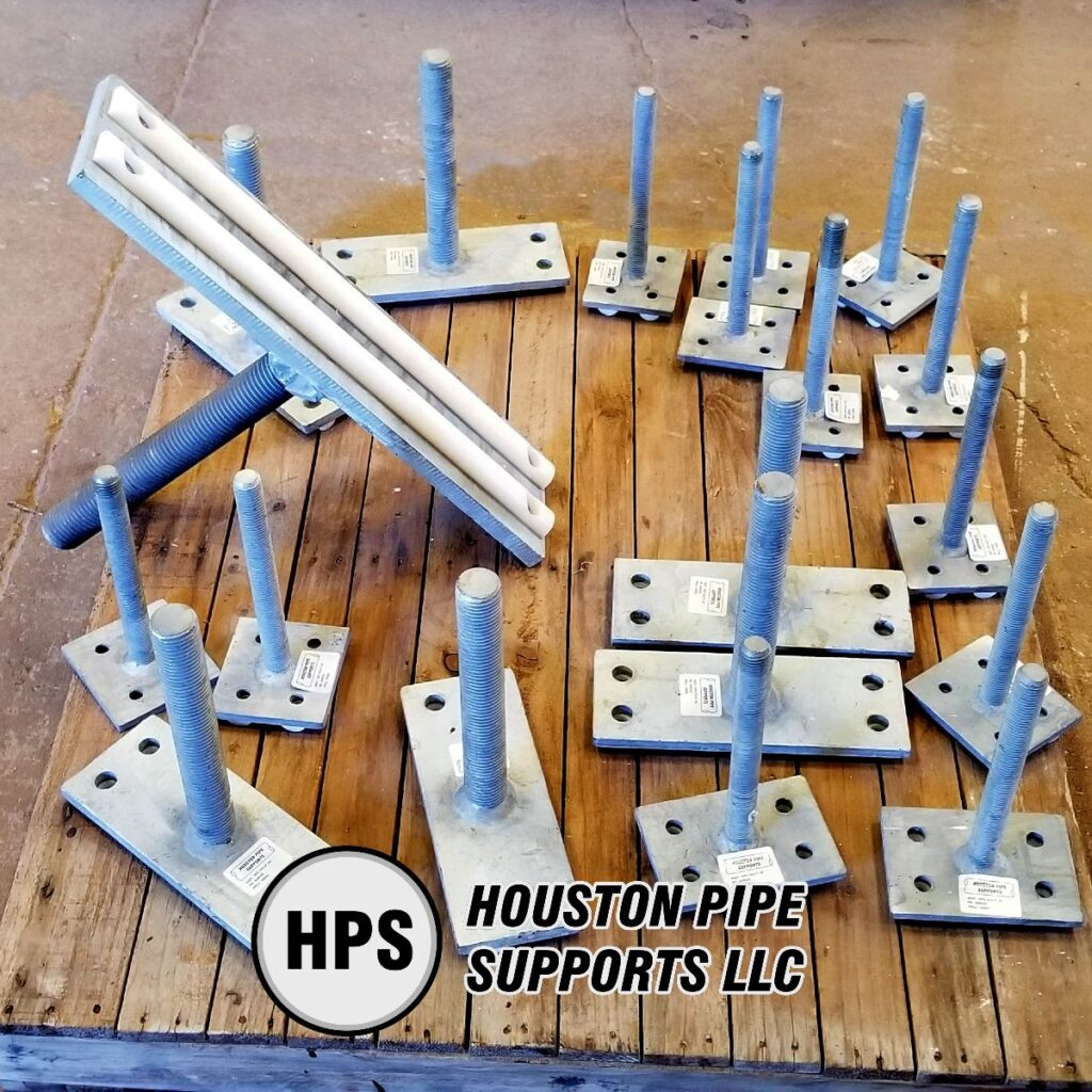 adjustable support heads with thermoplastic half round rods