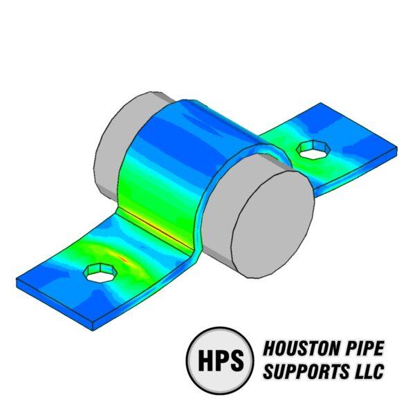 FEA small pipe clamp