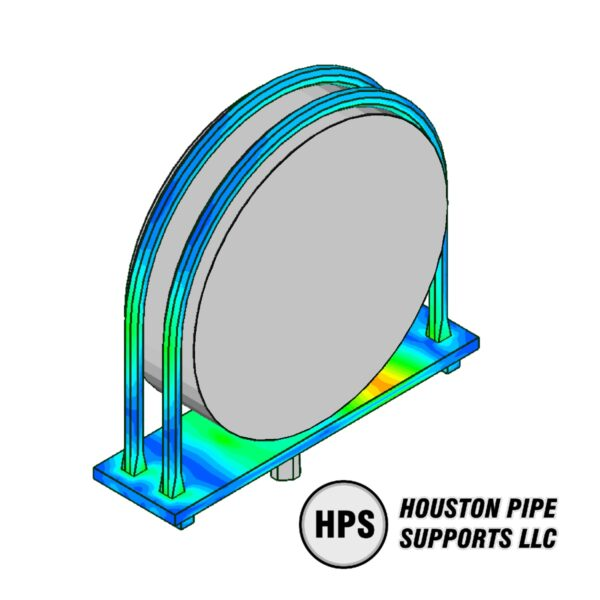 FEA ubolt pipe support