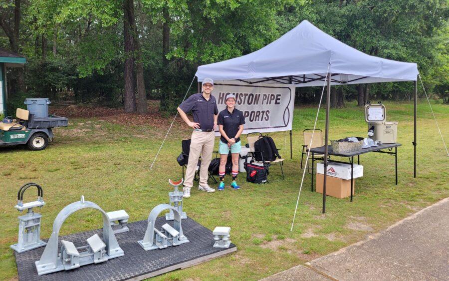 houston pipe supports at holloman golf tournament