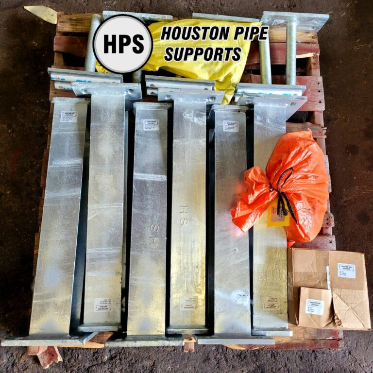 adjustable pipe supports with half round heads